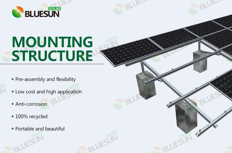structure sol panneaux solaire