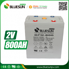 2V 800ah AGM best rechargeable battery type