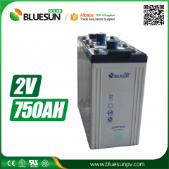 2V 750ah AGM best rechargeable battery type