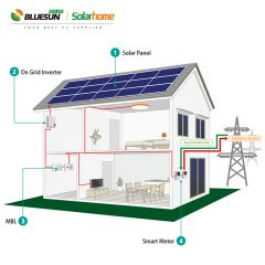 3kw grid tied solar power system 3kva power plant solar power system kits 3000w on grid