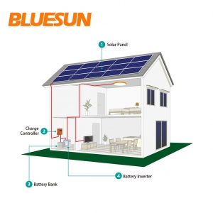 4KW Off-grid solar power system 4000w solar system with 4kva inverter