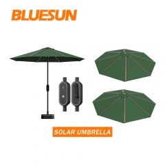 Hot sale Thin Film Solar Power Umbrella Beach Solar Umbrella For Sale