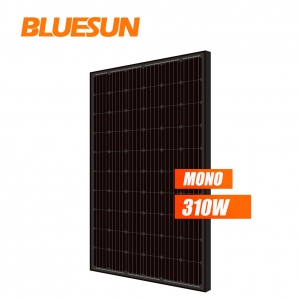 full black mono 300w 310watt 320wp 330w solar panel solar module mono 60 cells lightweight flexible solar panel  330w full black