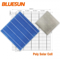 BLUESUN High Efficiency 5BB Solar Cell Panel 156.75mm Poly Solar Cells In Stock