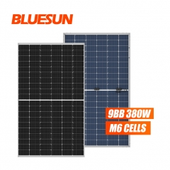 Bluesun 166mm perc bifacial 380w half cell mono solar panel