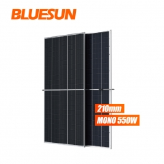 182mm 550watt bifacial solar panel